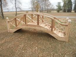 arched footbridge plans big wooden bridge design garden bridges 4 52 ft long elegant landscape better