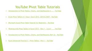 Using Pivottables Ppt Download