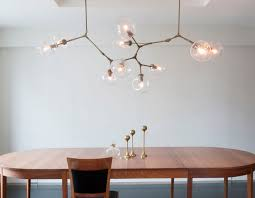 lighting astounding custom globe branching chandelier in vintage brass with clear lindsey adelman bubble diy