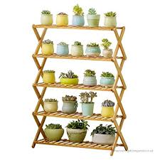 yff anti corrosion flower pot shelf rugged and durable plant display racks garden wooden shelving