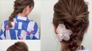 浴衣の髪型ミディアム編夏祭り自分でできる簡単なやり方ヘアアレンジ