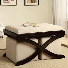 Furniture of America Rue Upholstered Coffee Table