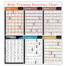 Dumbbell Exercises Chart Printable Us 3 88 27 Off Bodybuilding Gym Sport Fitness Dumbbell Poster Kettlebell Workout Exercise Training Chart Art Wall Poster Print Home Decor In