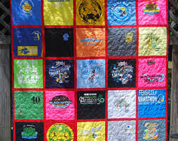 Running shirt quilt | Etsy & Custom Made Longarm Quilted T-Shirt Quilts - Races / Collegiate / Camps /  Vacations Adamdwight.com