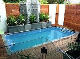 Backyard Pool Designs For Small Yards New Small Inground Pool Sizes Dageekco