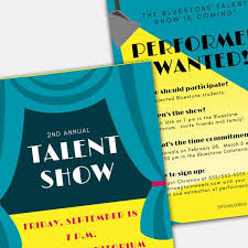 Word Template Flyers Talent Show Flyer Word And Pages Template Set For Pta Pto Church And Other Groups Diy Template