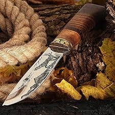 Grand Way <b>Hunting</b> Knife - Decorative Fixed Blade Knife - Classic ...