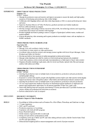 Video Production Resume Samples Velvet Jobs With Film Production