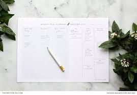 Wedding Meal Planner Download A Printable Minimalist Meal Planner Wa Wedding