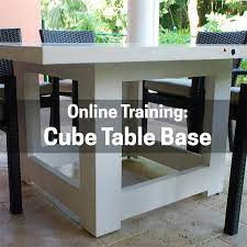 how to make a cube table base self