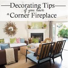corner fireplace decorating tips
