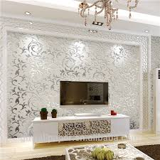 Wallpaper Design Home Decoration Wall Paper Design Home Decor 100d Wallpapers Silver Metallic Wallpaper 29