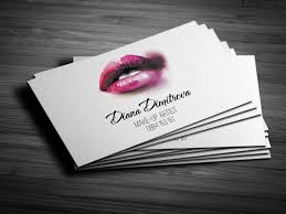 make up artist business card design
