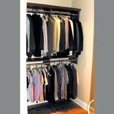 closet bar height rod organizer hanging shelves hang double black storage clothes