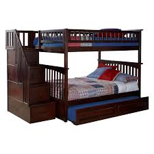 Atlantic Furniture Columbia Staircase Full Over Full Bunk Bed | Hayneedle