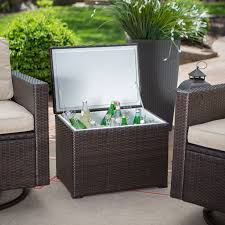 Table Drinks Cooler Keter Pacific Cool Bar Rattan Party Cooler Outdoor Serving Carts