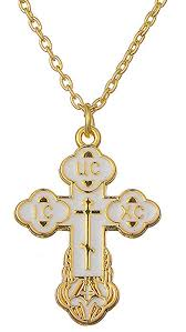 religious orthodox bud cross christ charm pendant necklace jewelry for women mens white