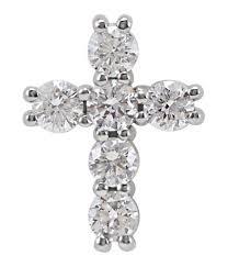petite 1 3 carat diamond cross pendant