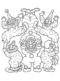Dessin De Coloriage Clown Imprimer Cp08229