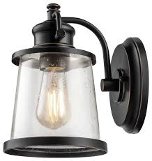 industrial clear glass wall sconce lighting antique bronze traditional outdoor wall lights and sconces by funneyle inc