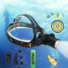 Underwater 5000LM XM-L T6 <b>LED Diving Headlamp</b> Flashlight ...