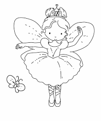 Coloring Pages Fairies Fairy Ballerina Coloring Pages