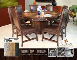 architecture round copper dining table beautiful looking ideas with regard to hammered plans orange and base