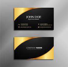 Business Card Design Black And Golden Vector Premium Download
