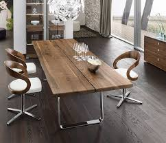 luxury walnut metal dining table