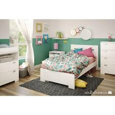 south shore reevo twin wood kids platform bed  the home depot