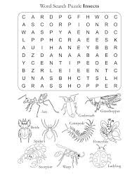 Word Search Puzzle Insects | Download Free Word Search Puzzle ...