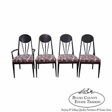 set of 4 dining chairs. Heywood Wakefield Contessa Mid Century Modern Set Of 4 Dining Chairs C