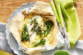 this fish is ready in a flash and by using foil parcels to cook the entire meal you ll save on washing up too