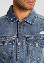 hollister co denim jacket medium wash for men u61g2267