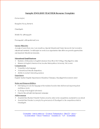 English Resume Sample Resume Sample English Language Teacher Danayaus 10