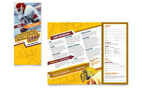 Summer Camp Pamplets Football Camp Pamphlets Templates Graphic Designs