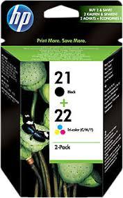 <b>HP 21</b>/<b>22</b> Cartridge Black + Combo Pack Tri-Color (<b>SD367AE</b> ...