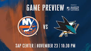 Sharks Game Seating Chart Game Preview Islanders At Sharks