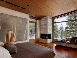 built in corner fireplace rocks the room 2