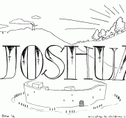 Pics Of Joshua Story Coloring Pages Walls Jericho Bible Pretty