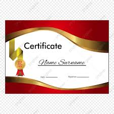 Certificate Layout Version With Luxury Gold Border