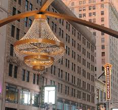 largest outdoor chandelier in the world in playhouse square in cleveland