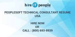 People Soft Consultant Resume PeopleSoft Technical Consultant Resume Hire IT People We get IT done 81