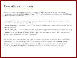Executive Summary Templates Free Sample Example Format Template
