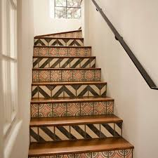 Designs For Stair Risers | Stair Riser Tiles Design Ideas, Pictures,  Remodel, and