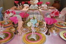Image of: princess baby shower decorations