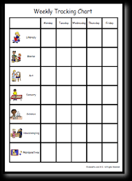 Behavior Modification Charts For Parents Weekly Tracking Chart
