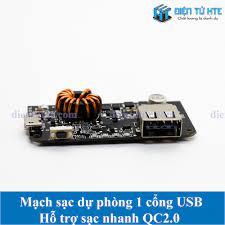 Mạch Pin dự phòng 1 cổng USB 2 chiều hỗ trợ sạc nhanh QC2.0/3.0 - đầu vào  MicroUSB QC2.0/3.0