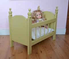 wooden baby doll cradle toy fancy crib