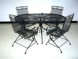 modern metal outdoor furniture photo. Modern Metal Patio Chairs Outdoor Furniture Black Wrought Iron Garden . Photo